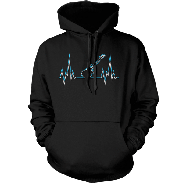 Guitar Heart Line - Mens - Hoodie - Small to 5XL
