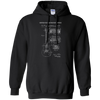 Guitar Patent Drawing - Mens - Hoodie - Small to 5XL