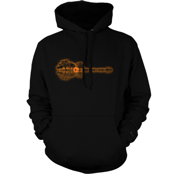 Guitar Sunset Landscape - Mens - Hoodie - Small to 5XL