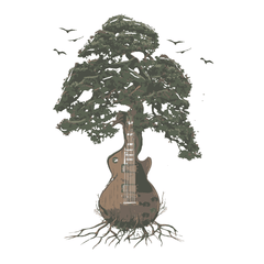 Guitar Tree (Color) - Mens - Hoodie - Small to 5XL