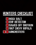 Hunters Checklist - Mens - Hoodie - Small to 5XL