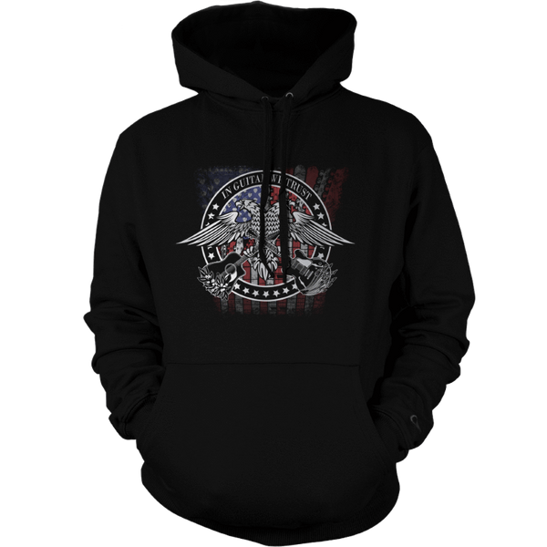 In Guitar We Trust - Mens - Hoodie - Small to 5XL