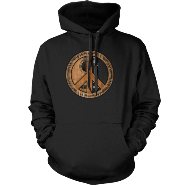 Peace Symbol (Guitar) - Mens - Hoodie - Small to 5XL