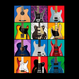 Pop Art Guitar _?? Mens - Hoodie - Small to 5XL