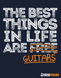 The Best Things in Life are Guitars - Mens - Hoodie - Small to 5XL