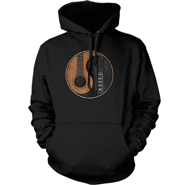 Yin Yang Guitar - Mens - Hoodie - Small to 5XL