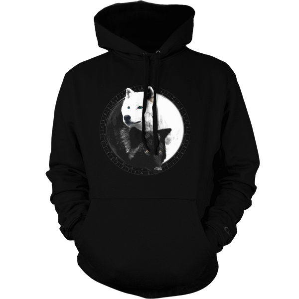 Yin Yang Wolf Inspired by Witchcraft & Wicca - Mens - Hoodie - Small to 5XL