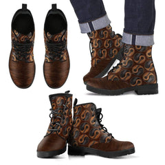 Yin Yang Guitar Men's Leather Boots