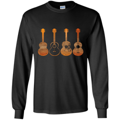 4 Guitar Print - Mens - Long Sleeved Tshirt - Small to 5XL