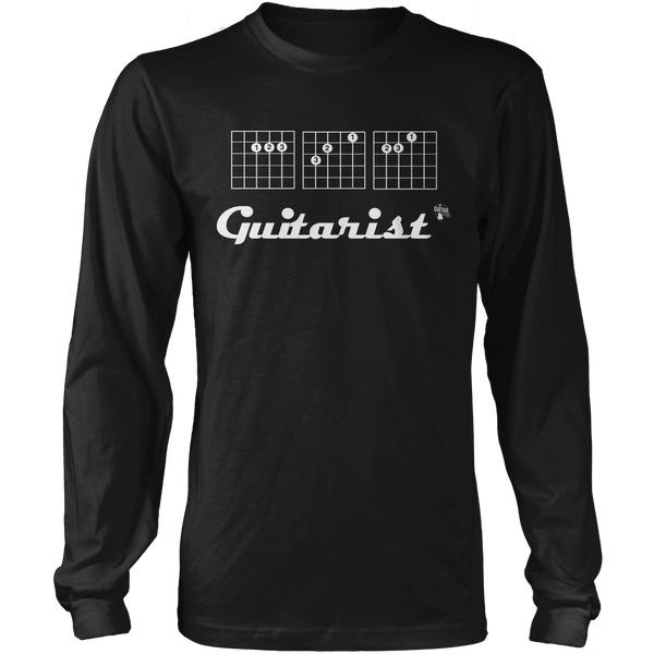Ace Guitarist - Mens - Long Sleeved Tshirt - Small to 5XL