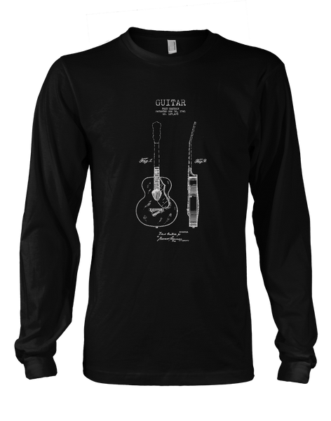 Acoustic Patent (Guitar)- Mens - Long Sleeved Tshirt - Small to 5XL