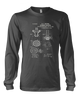 Bunsen Burner Patent - Mens - Long Sleeved Tshirt - Small to 5XL