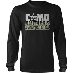 Camo - America's Away Colors - Mens - Long Sleeved Tshirt - Small to 5XL