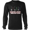 Choose Your Weapon Guitar Or Light Saber - Mens - Long Sleeved Tshirt - Small to 5XL