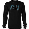 Drummer Heart Line - Mens - Long Sleeved Tshirt - Small to 5XL
