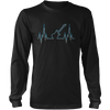 Guitar Heart Line - Mens - Long Sleeved Tshirt - Small to 5XL