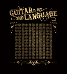 Guitar is My 2nd Language - Mens - Long Sleeved Tshirt - Small to 5XL