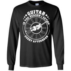 Guitar Is The Reason I Get Up Every Afternoon - Mens - Long Sleeved Tshirt - Small to 5XL