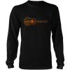 Guitar Sunset Landscape - Mens - Long Sleeved Tshirt - Small to 5XL
