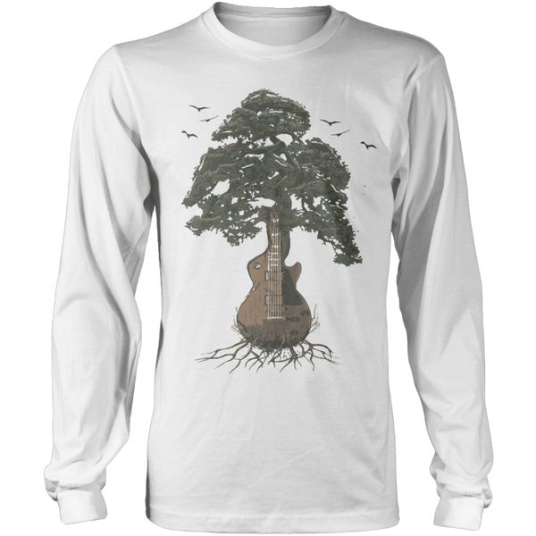 Guitar Tree (Color) - Mens - Long Sleeved Tshirt - Small to 5XL