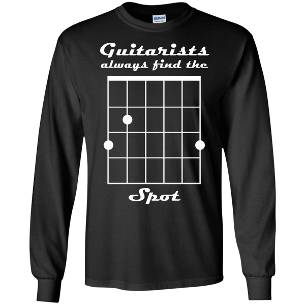 Guitarist Always Find The Spot - Mens - Long Sleeved Tshirt - Small to 5XL