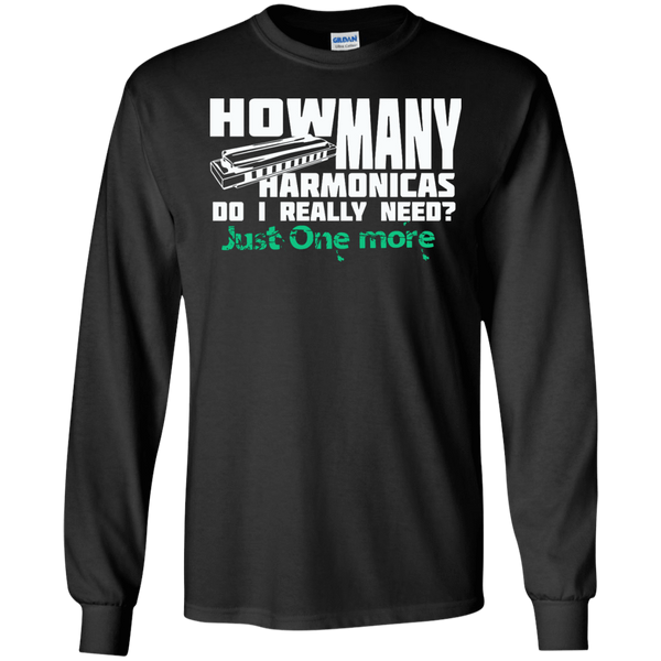 How Many Harmonicas Do I Really Need? Just One More.... - Mens - Long Sleeved Tshirt - Small to 5XL