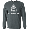 Keep Calm And Tip Your Bartender - Mens - Long Sleeved Tshirt - Small to 5XL