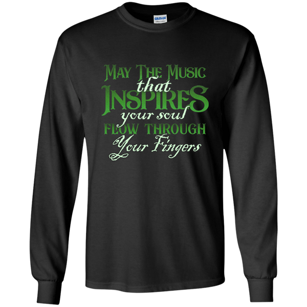 May The Music Flow Through Your Fingers 2018 - Mens - Long Sleeved Tshirt - Small to 5XL