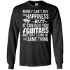 Money CAN Buy Happiness - Guitars! - Mens - Long Sleeved Tshirt - Small to 5XL
