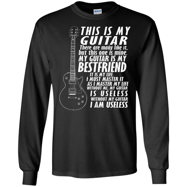 My Guitar Is My Best Friend - Mens - Long Sleeved Tshirt - Small to 5XL