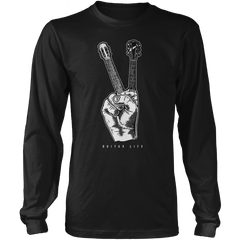 Peace Gesture (Guitar) - Mens - Long Sleeved Tshirt - Small to 5XL