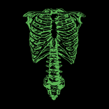 Spinal Tap Green Skeleton Nigel Tufnel Ribcage - Mens - Long Sleeved Tshirt - Small to 5XL
