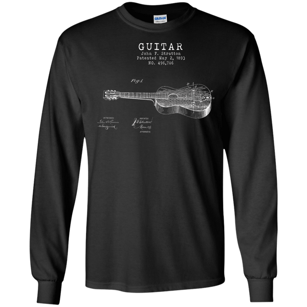 Stratton Patent Guitar - Mens - Long Sleeved Tshirt - Small to 5XL