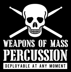 Weapons of Mass Percussion - Mens - Long Sleeved Tshirt - Small to 5XL