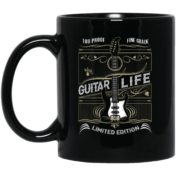 100% Proof Finest Guitar Life 11 oz. or 15 oz. Black Mug