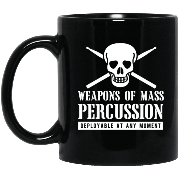 Weapons of Mass Percussion 11 oz. or 15 oz. Black Mug