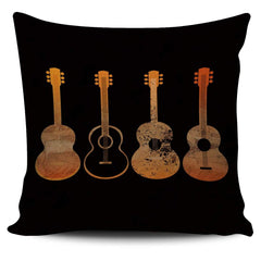 4 Guitar Print - Pillow Cover