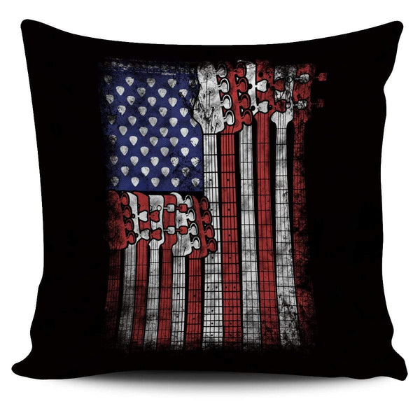 Bass Guitar Flag - Pillow Cover