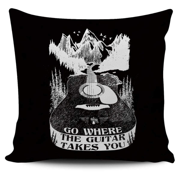 Go Where The Guitar Takes You (Version 1) - Pillow Cover