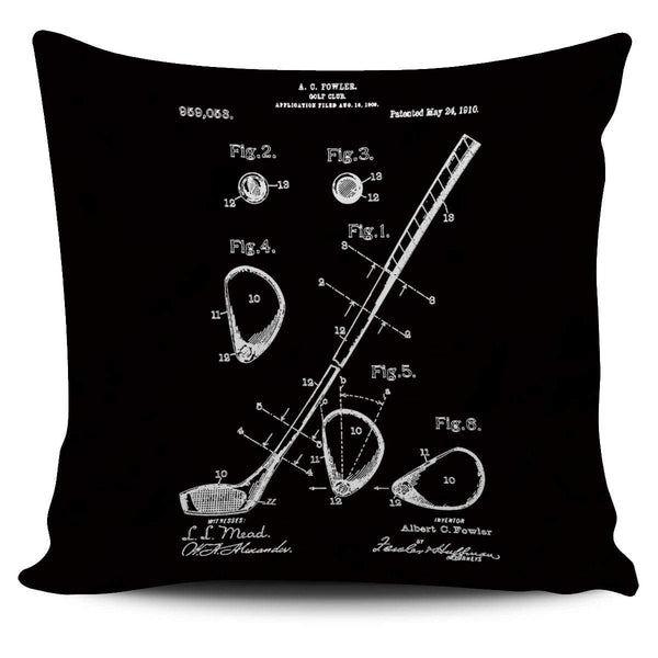 Golf Club Patent 1902 - Pillow Cover