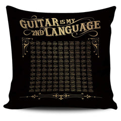 Guitar is My 2nd Language - Pillow Cover