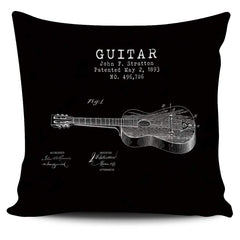 Stratton Patent Guitar - Pillow Cover
