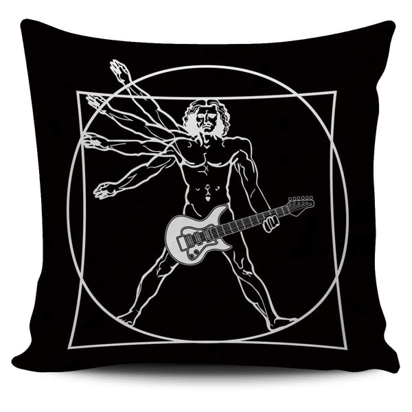 Vitruvian Guitar - Pillow Cover