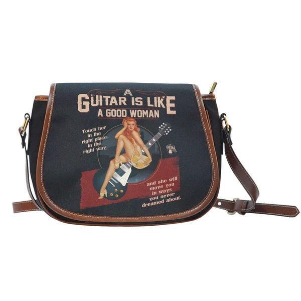 Guitar Is Like A Good Woman Saddle Bag