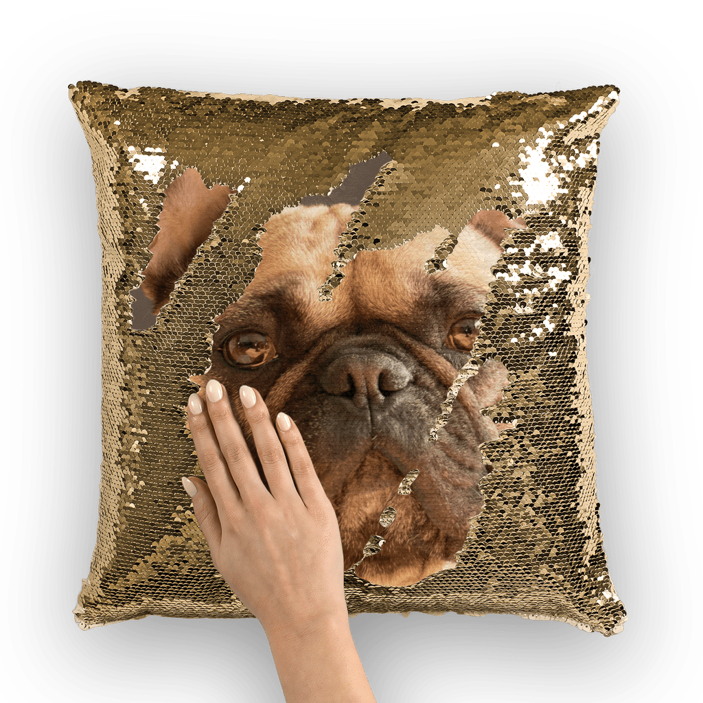 Dog Sequin Pillow Covers