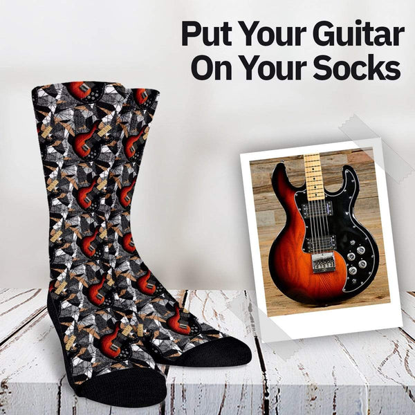 Your Guitar On Your Socks - Pattern Custom Socks