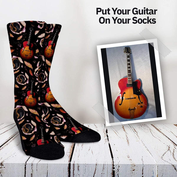 Your Guitar On Your Socks - Yin Yang Style Custom Socks