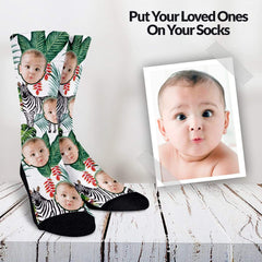 Your Loved Ones On Your Socks - Savana Pattern Custom Socks