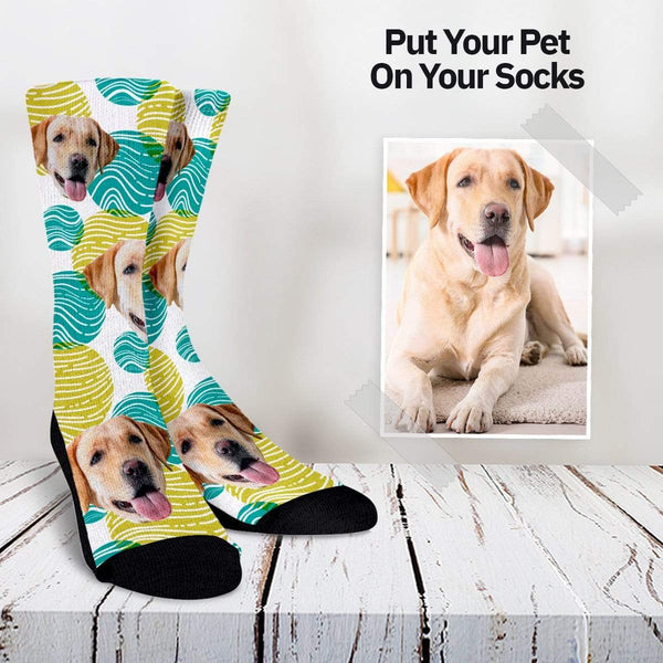 Your Pet On Your Socks - Balls Pattern Custom Socks