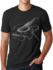 Acoustic Guitar Print - Mens - Tshirt - Small to 5XL